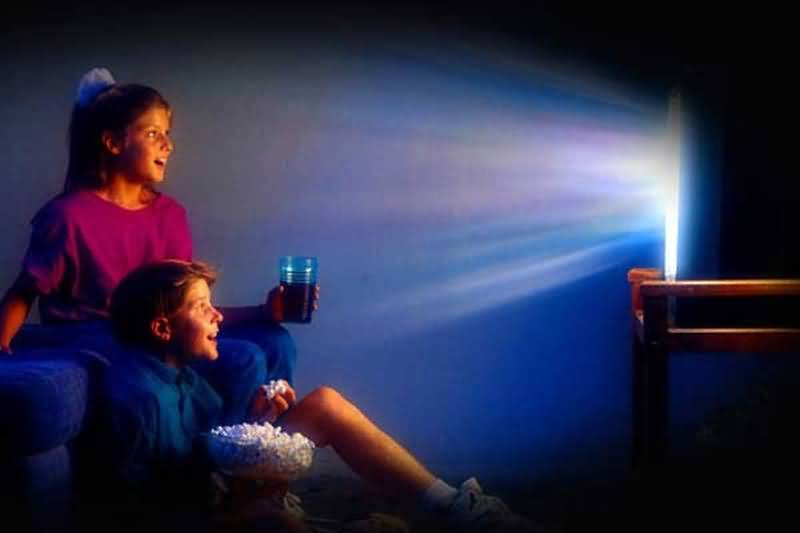 Watching TV In The Dark Is Bad For The Eyes