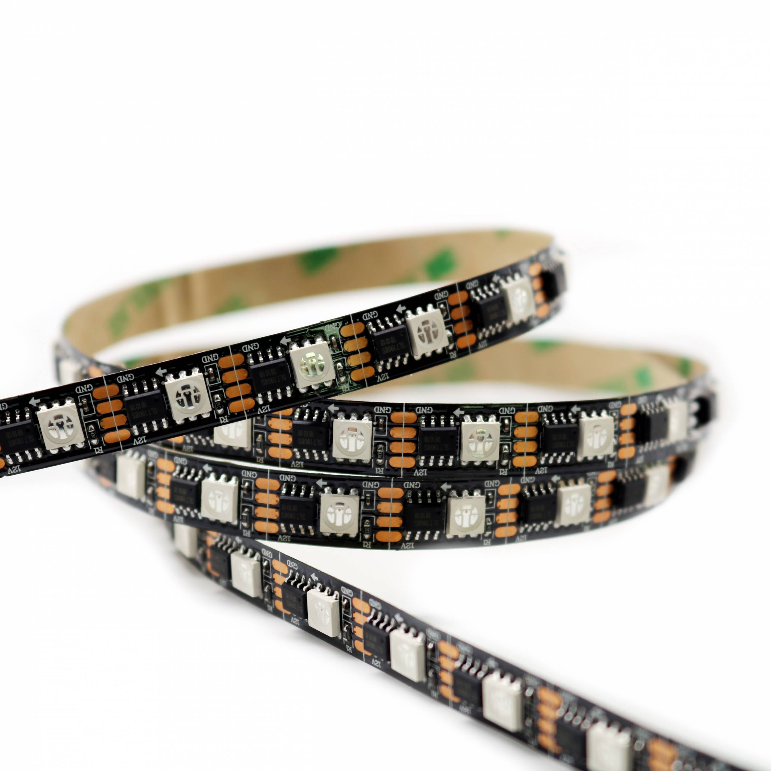 12V 60LEDs/m Breakpoint LED Strip AT1606 IC individually addressable